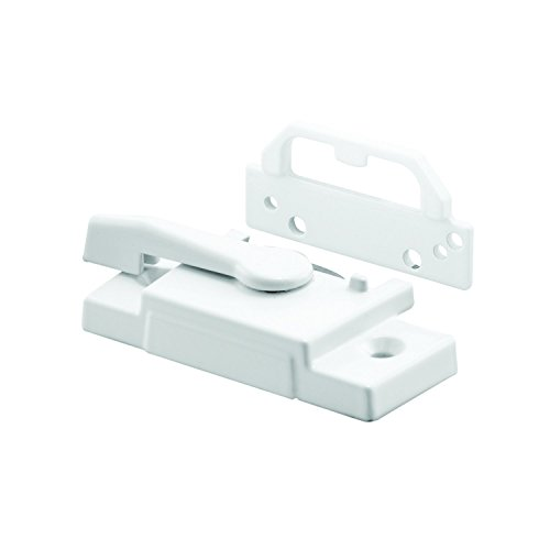 Prime-Line Products F 2755 Sash Lock, Diecast Construction, White, Baked-On Enamel Finish, Face-Mount Keeper