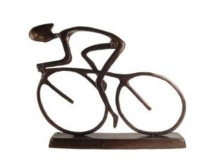 Large Cyclist Bicycle Bike Cycling Sculpture-Cast Aluminum Art