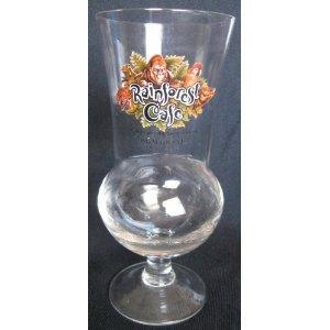 Rainforest Cafe TRUMP PLAZA ATLANTIC CITY Souvenir Hurricane Glass Imported