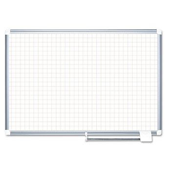 MasterVision 1 x 1 Inches Magnetic Gold Ultra Grid Planner with Aluminum Frame (MA2747830) ()