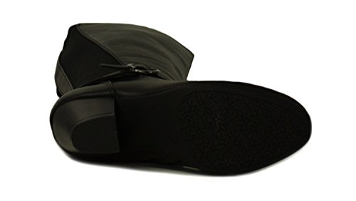 Neu Damen Schwarz Langes Bein Compfort Plus Stiefel Weite Passform - Schwarz - UK GRÖßEN 3-8