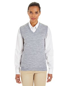 Sweater Vest Performance V-neck (Harriton Womens Pilbloc V-Neck Sweater Vest (M415W) -GREY HEATH -2XL)