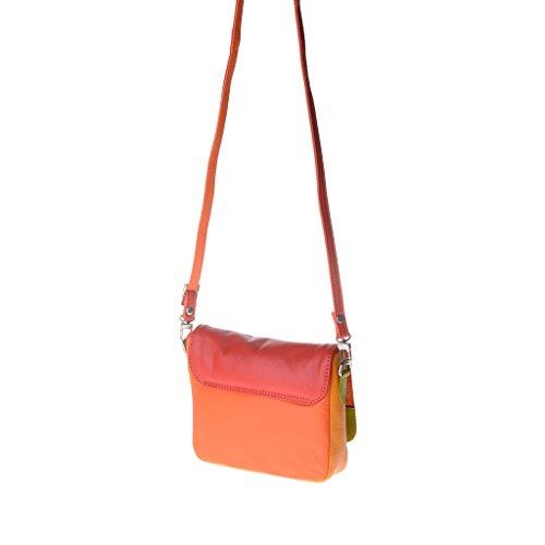 Dudu - Sac porté épaule en cuir - Colorful Collection - Ellesmere - Rouge