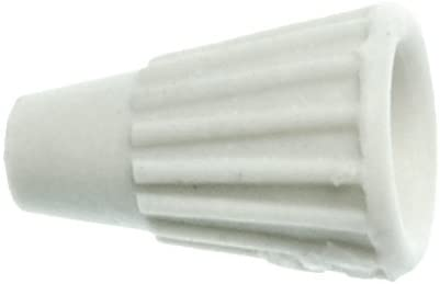 NSI TOP-M-CD Easy-Twist Medium Ceramic Wire Connector White with Pack of 100 NSI Industries 22-10 AWG at 600 V Splicing Wire 1000 F Max