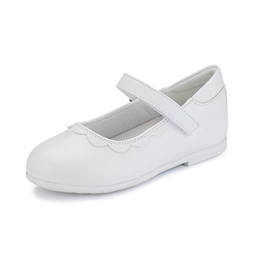 Weestep Toddler/Little Kid Girls Mary Jane Dress Flat (7 M US Toddler, White) -