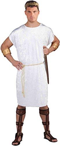 Forum Novelties Men's Velvet Costume Tunic, White, Standard ()