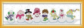 Joy Sunday Cross Stitch kits, Snowman,11CT Stamped, 101cm×3