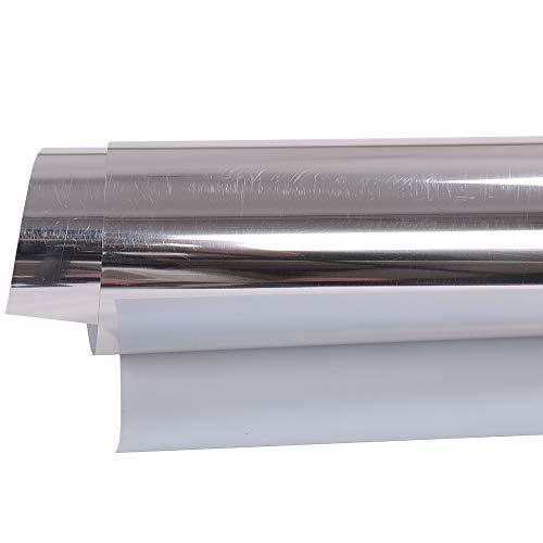HOHOFILM - Vinilo metálico de transferencia de calor HTV, película de prensa térmica, lámina adhesiva, para bricolaje,...