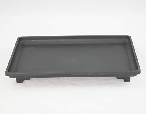 Lapha' Bonsai Saucer Plate Rectangular Black Plastic Humidity/Drip Tray for Bonsai Tree 9