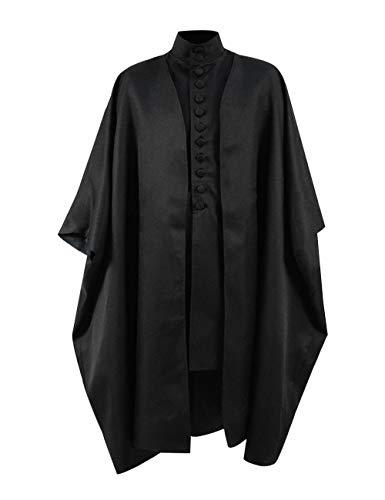 Skycos Mens Professor Severus Halloween Cosplay Costumes