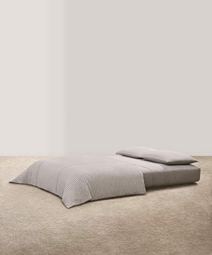Calvin Klein Home Modern Cotton Lennox Duvet, Full/Queen, Grey/Cream