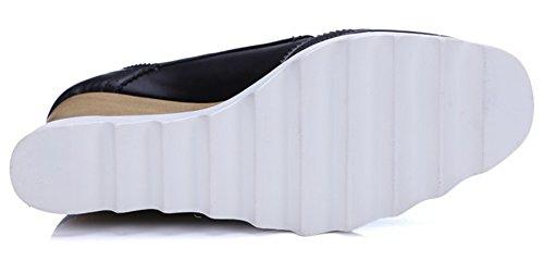 Summerwhisper Scarpe Eleganti Da Donna Con Punta Squadrata In Pizzo Scarpe Con Tacco Alto Zeppa Con Zeppa E Plateau Bianco