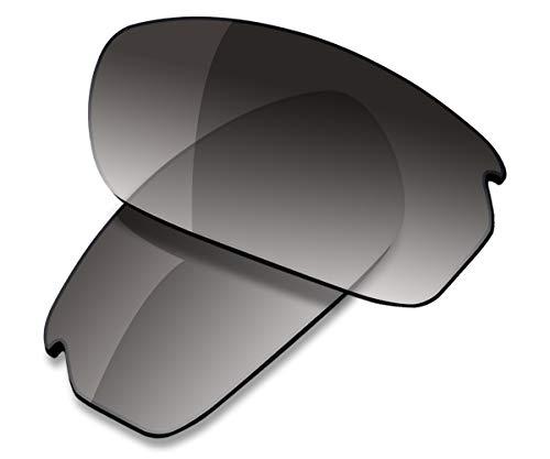Saucer Premium Replacement Lenses for Oakley Carbon Shift Sunglasses High Defense - Grey Gradient Tint Polarized (Carbon Shift)