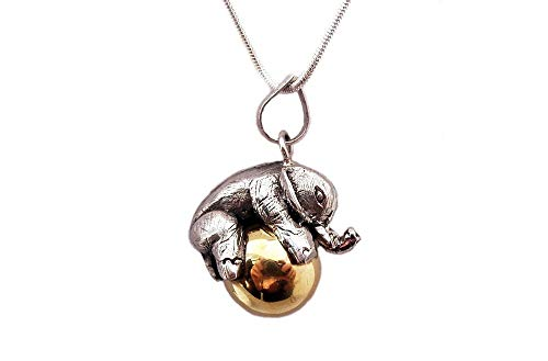 - Sterling Silver Elephant Bali Harmony Ball Chime Pendant, Harmony Bola Necklace