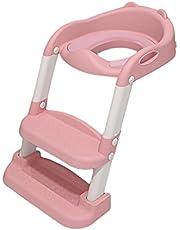 Kinder Toilettentrainer mit Treppe, Töpfchentrainer Faltbar und Tragbar, Töpfchen für Kinder von 1 bis 8 Jahre Höhenverstellbar Toilettensitz