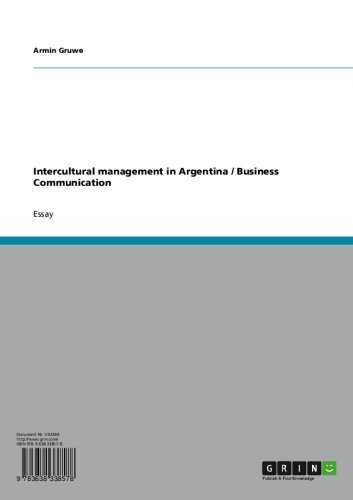 amazoncom intercultural management in argentina  business  intercultural management in argentina  business communication by gruwe  armin