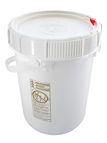 Bucket Kit, One Pre-threaded White 5-gallon Bucket with a Ratcheting Screw-on Lid (Not Gamma).