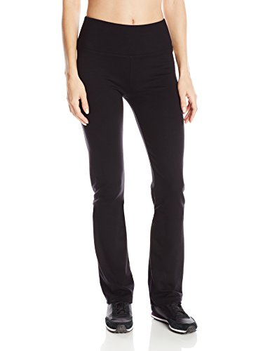 Calvin Klein Performance Womens Ponte Knit Straight Leg Pant Black Medium