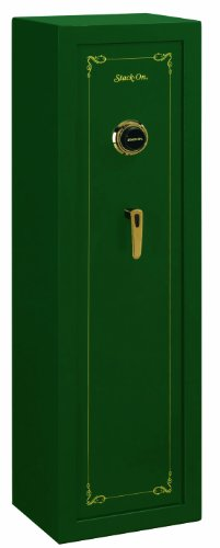 Stack-On SS-8-MG-C 8 Gun Fully Convertible Security Safe with Combination Lock, Matte Hunter Green