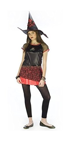 Punk Plaid Witch Costume - Tween Costume - Large (12-14)