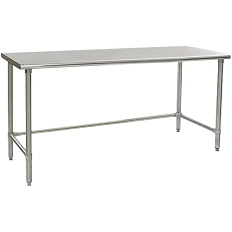 Eagle T3072STEB Stainless Steel Work Table With Stainless Steel Tube Base 30 X 72 X 30