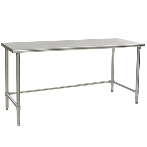 Eagle T3672GTE Stainless Steel Work Table with Galvanized Tube Base, 36