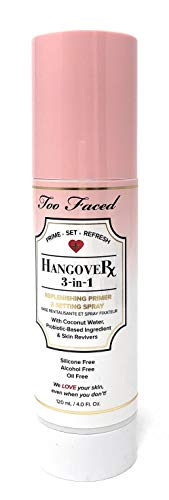 Too Faced Hangover Rx 3 in 1 Replenishing Primer & Setting Spray 4 OZ
