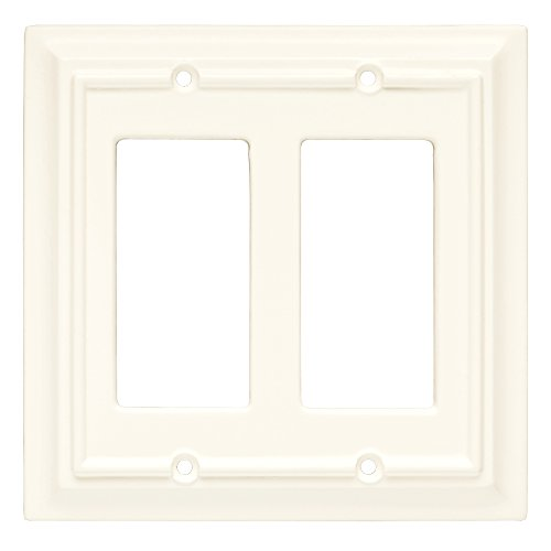 Brainerd Wall Plate (Brainerd 126336 Wood Architectural Double Decorator Wall Plate / Switch Plate / Cover)