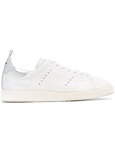 GOLDEN GOOSE HOMME G29MS631G12 BLANC CUIR BASKETS