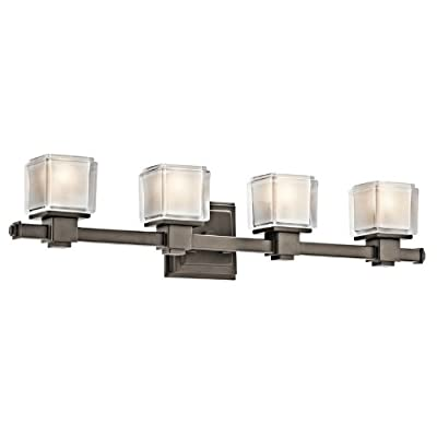 Kichler  45144OZ 4 Light Rocklin Bathroom Light, Olde Bronze -  - bathroom-lights, bathroom-fixtures-hardware, bathroom - 31WuL9lYoVL. SS400  -