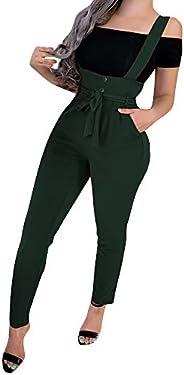 Sumen Women Spaghetti Strap Wide Legs Tights Jumpsuit Trousers Clubwear Rompers