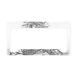 cafepress mermaid bw license plate holder aluminum license plate frame license tag holder