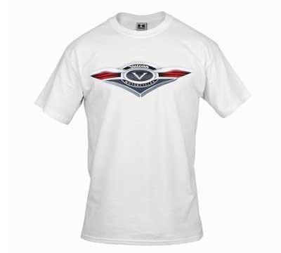 Amazon Com Kawasaki Vulcan Crest White T Shirt Size Small