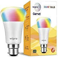 Wipro Next Smart LED Bulb Base B22 7-Watt (RGB + CCT) (Compatible with Amazon Alexa and Google Assistant) (Pack of 2)