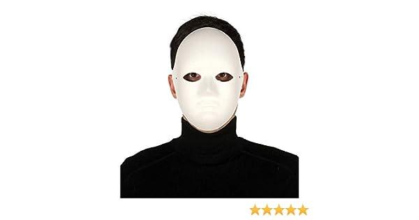 Maschera bianca viso medio in cartapesta: Amazon.es: Juguetes y juegos