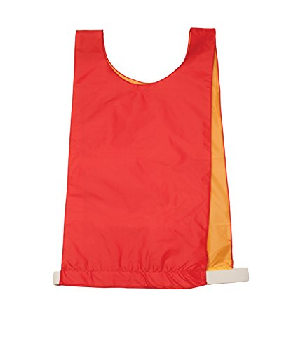 Champion Sport Adult Reversible Pinnie, Red/Yellow, Adult Size (Champion Football Uniforms)