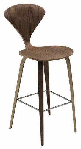 Fantastic Amazon Com Nuevo Satine Bar Stool American Walnut Inzonedesignstudio Interior Chair Design Inzonedesignstudiocom