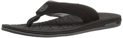 oneill-mens-traveler-sandal-flip-flop-black-grey-11-m-us