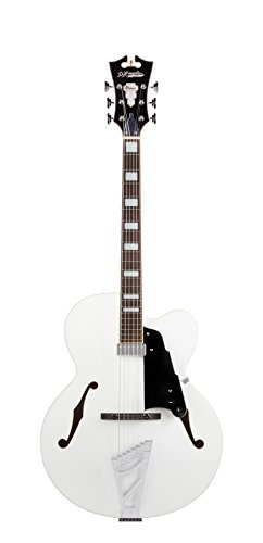 D'Angelico Premier EXL-1 Hollow-Body Electric Guitar w/Stairstep Tailpiece – White