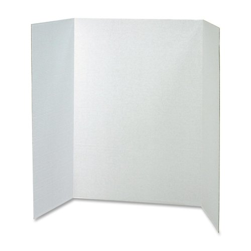 (Wholesale CASE of 15 - Pacon Single Walled Tri-fold Presentation Boards-Single Walled Presentation Board,48