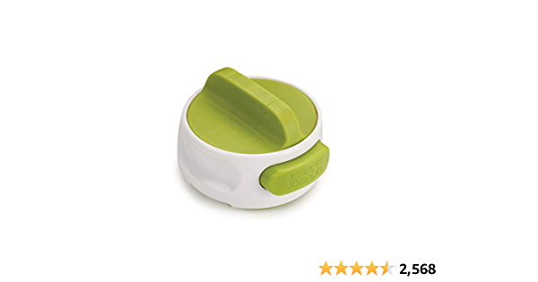 Joseph Joseph Can-Do Compact Can Opener Easy Twist Release Portable Space-Saving Manual Stainless Steel, Green