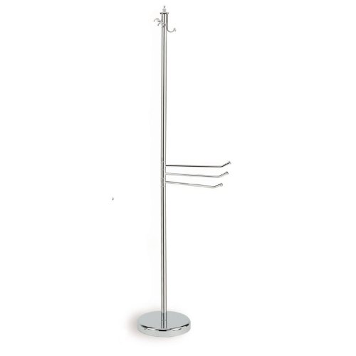 Nameeks 741-08 Free Standing ClassicStyle Brass Robe Stand Towel, Chrome by Nameeks