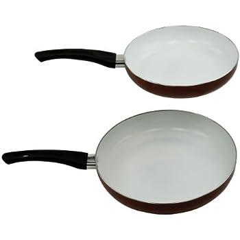 Amazon Com Healthy Nonstick Ceramic Coated Frying Pan Set