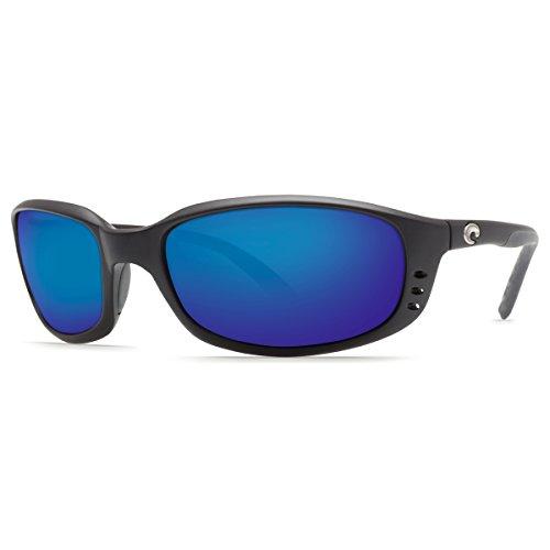 Costa Del Mar Brine C-Mate 2.00 Sunglasses, Matte Black, Blue Mirror 580P - 580p Costa Brine