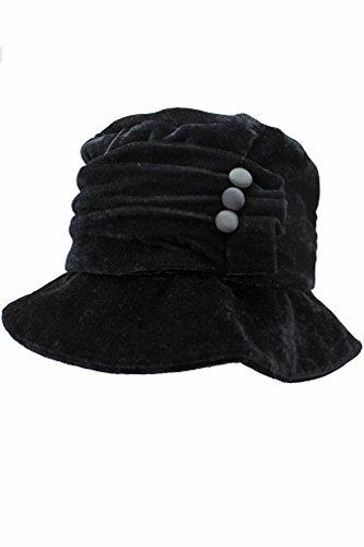 Luxury Divas Large Brim Black Velvet Ruc - Black Velvet Hat Shopping Results