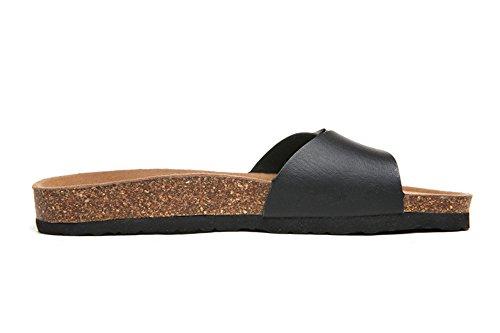 Una Flip Playa Correa Azul Antideslizantes Zapatillas Corcho Sandalias Sandalias de Zapatos Moda Flop Mujer pie De TY1YqrxPw