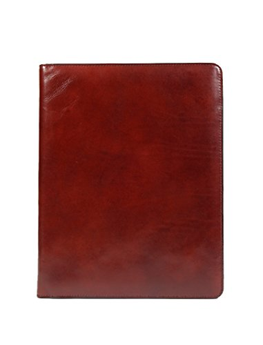 Bosca Old Leather Collection Zippered Letter Pad Dark Brown