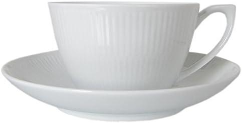 Royal Copenhagen Taza de té con platillo Blanco Acanalados. (2 ...