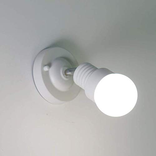 Kirin Minimalist Wall Lamp Modern Bedside Reading Light Metal Fixable Lighting Fixture Bedroom Living Room Corridor (White) -