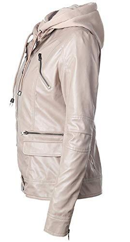 Vita Giacche Aprikose Elegante Moto Outwear Lunga Di Con Incappucciato Giacca Alta Giubbotto Donna Manica Pelle In Fashion Similpelle Marca Mode Transizione Invernali Autunno Sottile Cerniera Casual wn0g4Eq
